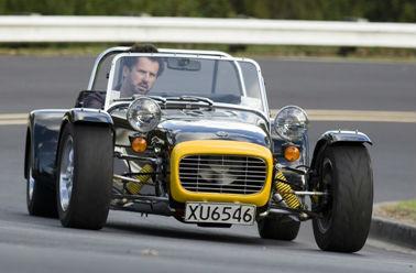 Scott Tristram driving a Fraser Sport Car