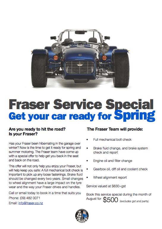 Fraser Service Special