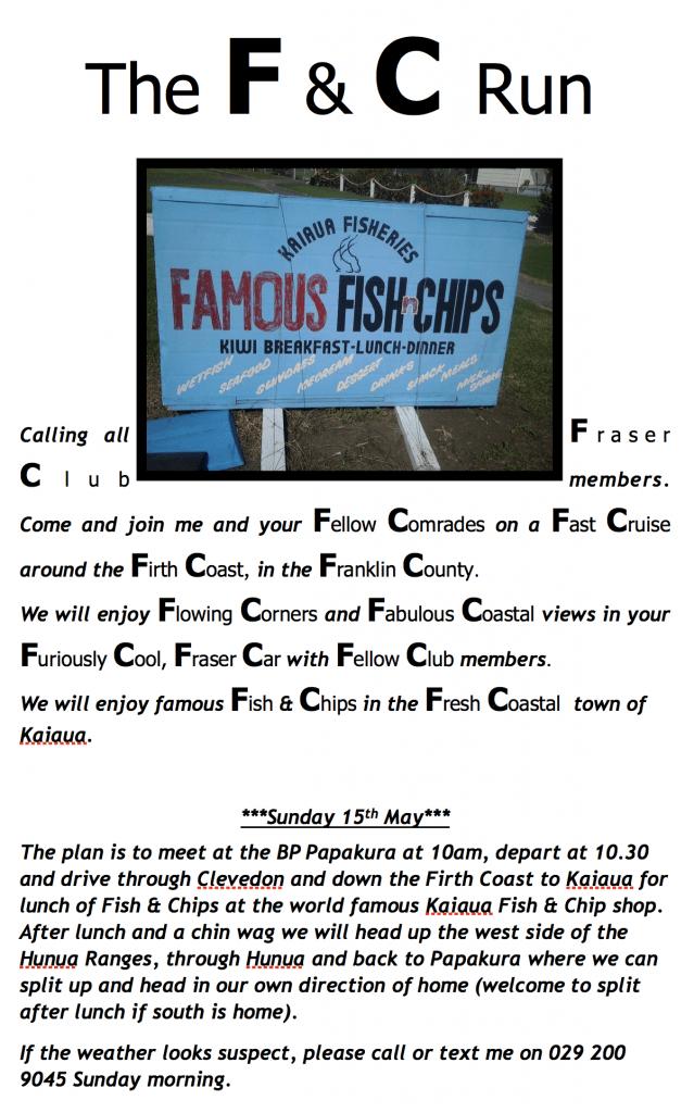 Fraser Car Club Run