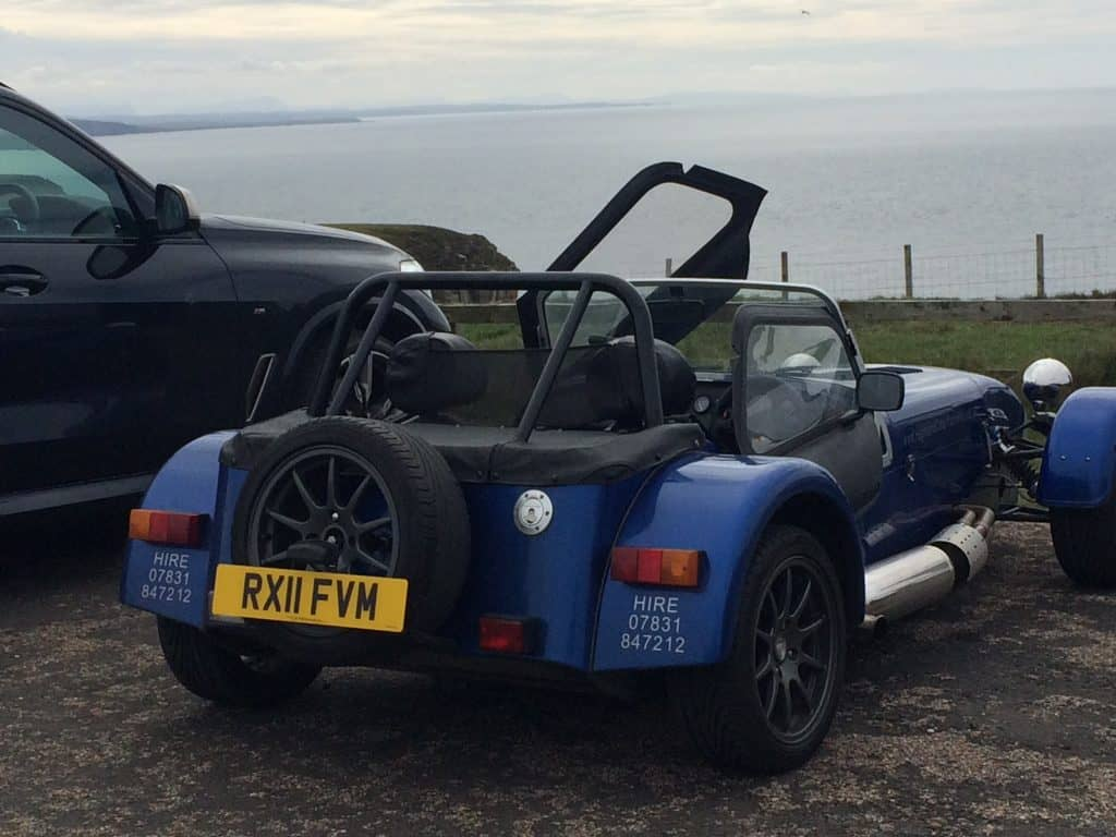 The Caterham at Dunnet Head