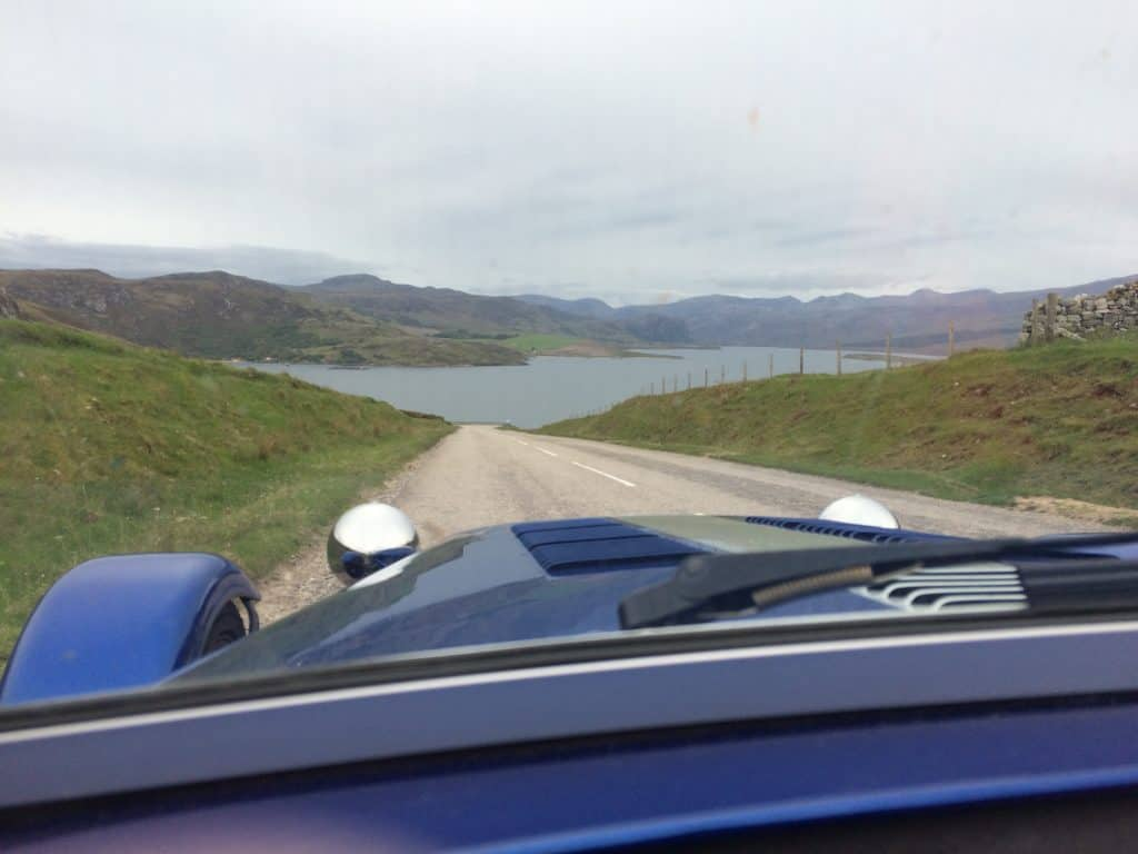 The joys of the open road. Northwest corner of the highlands