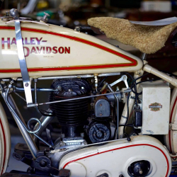 A picture of a Vintage Harley